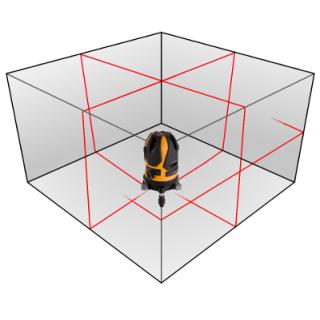 Dosah křížového laseru